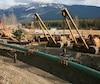 Le chantier de l'oléoduc Trans Mountain en 2012.