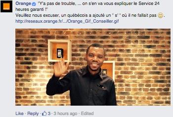 parodie pub orange quebecois