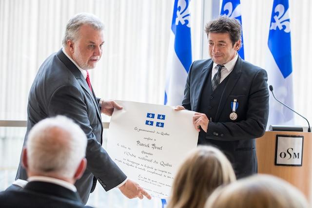 Philippe Couillard et Patrick Bruel