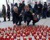 Des dizaines de lampions ont été allumés près du centre Sakharov.