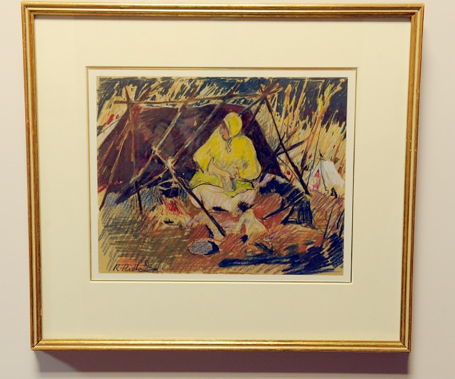 La valeur des tableaux ornant les murs de lancien hôtel de ville de Sainte-Foy totalise environ 100 000$. Cette oeuvre de René Richard est évaluée à environ 2000 $.