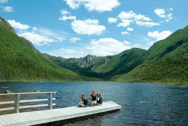 Le lac aux Américains, dans le parc national de la Gaspésie