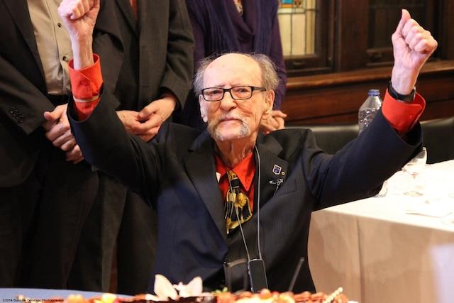 Pierre Demers en 2014 lors de son anniversaire soulignant ses 100 ans.