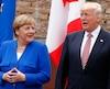 La chancelière allemande, Angela Merkel, et le président des États-Unis, Donald Trump