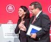 Les deux principaux candidats à la mairie de Montréal, Valérie Plante et Denis Coderre.