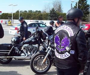 Club sympathisant des Hells Angels, les Brotherhood comptent plus de 100 membres dans leur section de Montréal.