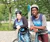Sarah-Maude Boutin, 15 ans, et Teddy Segor Ingabire, 19 ans, vont relever le défi du 20e Challenge de l'Espoir de Motivaction Jeunesse.