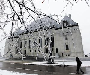 La Cour suprême du Canada, à Ottawa.