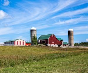 Bloc agriculture ferme