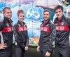 De gauche à droite, quatre des cinq escrimeurs canadiens qui participeront aux Jeux de Rio: Maxime Brinck-Croteau, Eleanor Harvey, Joseph Polossifakis et Maximilien Van Haaster.