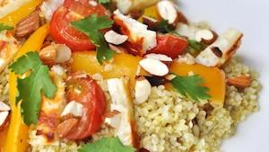 Salade au Halloumi