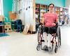Vanessa Plouffe, qui a perdu l'usage de ses jambes en juin dernier, travaille sans relâche pour retrouver son autonomie.
