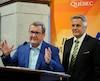 Les enjeux impliquant l'industrie du taxi se sont imposés à l'occasion de la première rencontre entre le maire Labeaume et le nouveau ministre des Transports, Laurent Lessard.