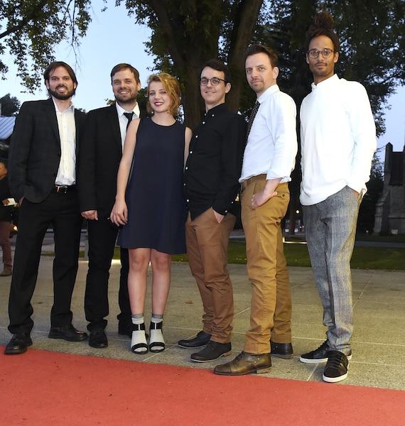 Les artisans du film D'encre et de sang : Alexis Fortier Gauthier, Francis Fortin, Lysandre Ménard, Maxim Rheault, Iannicko N'Doua et Martin Desgagné.