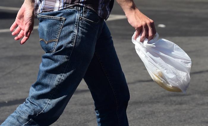 Bloc sac de plastique