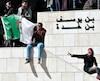 Des Algériens sont descendus dans les rues d'Alger hier pour manifester leur opposition au président Abdelaziz Bouteflika.