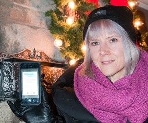 Catherine Papillon a pris Uber pour la première fois le 31 décembre. Elle a payé 97,12 $ pour se faire conduire du Vieux-Port de Montréal jusqu'à Rosemont–La Petite-Patrie.