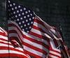 Bloc drapeau États-Unis