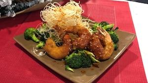 Crevettes panées sauce aigre douce