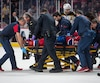 Phillip Danault a été atteint à la tête par un tir du défenseur des Bruins de Boston Zdeno Chara. Il s'est immédiatement effondré après le choc.