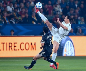 Zlatan Ibrahimovic qui va affronter l'Impact samedi soir marqué 26 des 49 buts du Galaxy de Los Angeles.