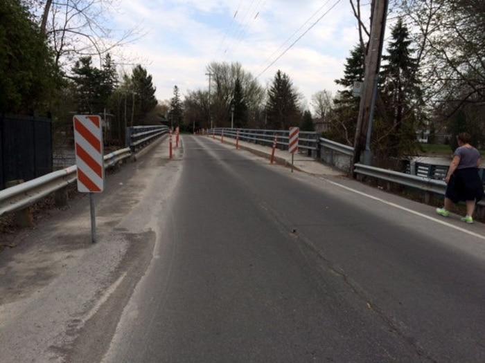 Pont de l'île Bigras avant la reconstruction.