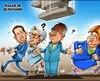 Caricature Ygreck 17 janvier 2018 Corrigée Jean-Francois Lisée Alexandre Cloutier Agnèe Maltais Nicole Léger
