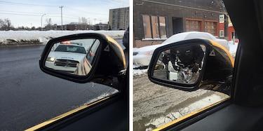 Photos prise le 21 février à gauche et le 22 février à droite.