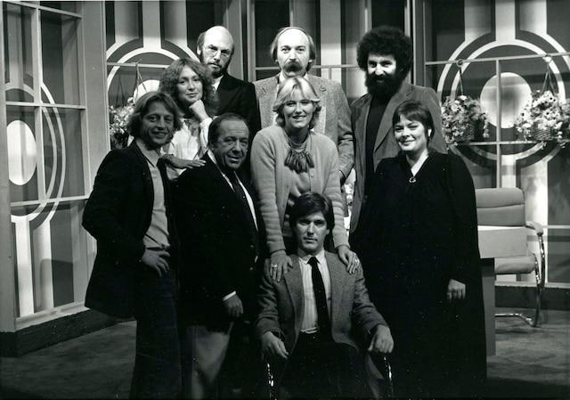 1981<br /> Georges Hébert-Germain, Reine  Malo, René Homier-Roy,  Yves Taschereau, Gilles Daigneault,  Edward Rémy, Danielle Ouimet,  Danielle Arnoldi, Alain Montpetit (assis).