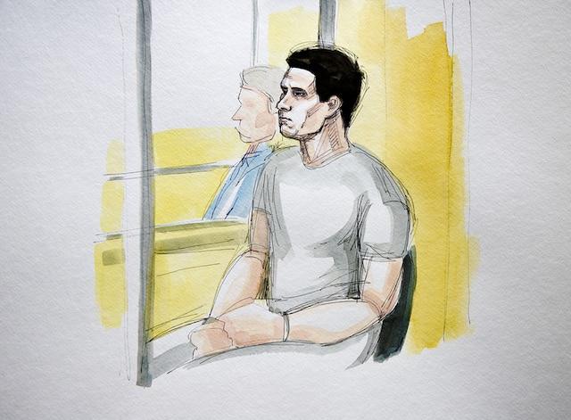 Luka Rocco Magnotta, au palais de justice de Montréal