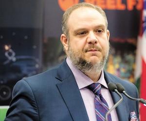 Benoit Dorais, numéro 2 de la Ville de Montréal, lors d'une conférence en avril 2018.