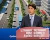 Le premier ministre du Canada, Justin Trudeau, était à Québec, lundi, pour une annonce sur le tramway.
