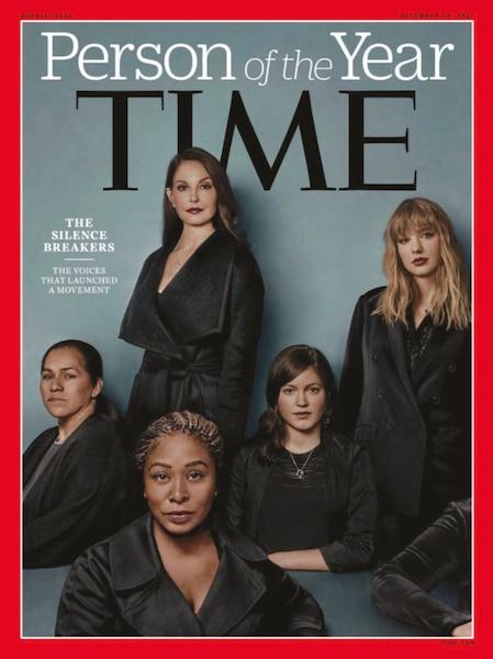 La personnalité de l'année2017  du magazine Time est allée à  cinq femmes, briseuses de silence  dans le mouvement #MeToo.