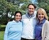 Sarah Nourcy, de CIBC Wood Gundy, Antoine Rouleau, de Blaxton et Rouleau Stratégie commerciale, également président du comité du tournoi de golf, ainsi que Julie Bédard, présidente et chef de la direction de la Chambre de commerce et d'industrie de Québec.