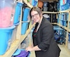 Christiane Plamondon dans les locaux de l'entreprise d'organisation d'événements Animation de l'Est à Cacouna.