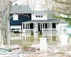 Plus de 5300 résidences ont été inondées au printemps2017, comme ici à Saint-Placide, au bord de la rivière des Outaouais.