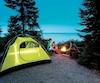 Camping rustique dans la pointe, au bord du lac Saint-Jean.