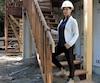 Sylvia Chouinard sur un de ses chantiers à Mascouche.
