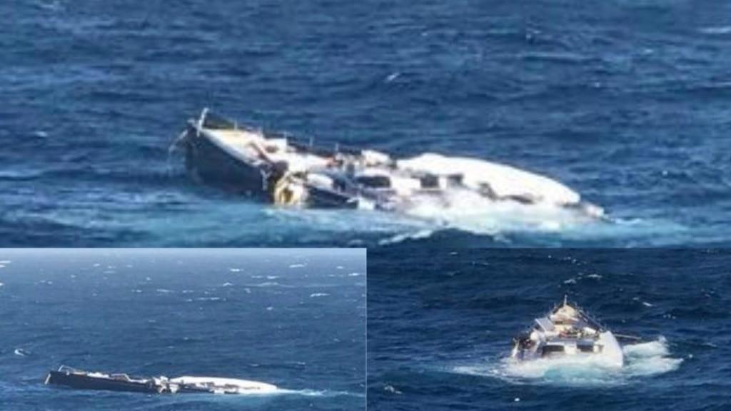 Un yacht de luxe d'une valeur de 45 M$ est échappé dans la mer par un cargo et c'est évidemment une perte totale