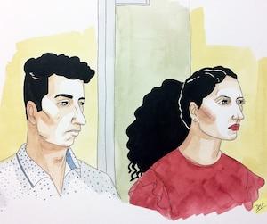 El Mahdi Jamali (à gauche) et Sabrine Djermane sont accusés de terrorisme.