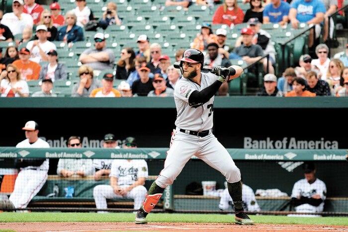 Bryce Harper, des Nationals, serait dans la ligne de mire des Yankees.