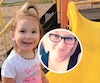 La petite Kaylee et sa mère Emily Anderson Tooma (en mortaise) ont été assassinées à Sept-Îles.