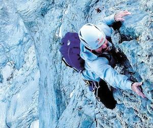 Certaines portions de l'escalade ont procuré plus de difficultés, dans des sections au relief vertigineux.