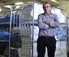Pierre Ferron, patron de la Buanderie Blanchelle, dans Lanaudière, qui a peur que la mégabuanderie publique Lavérendière vienne piger à même ses contrats qui sont à plus de 90% du secteur public.