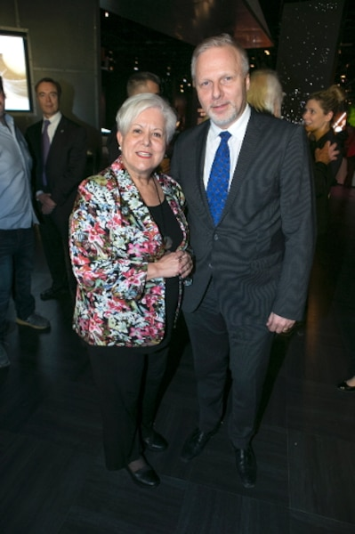Louise Harel et le ministre Jean François Lisée.