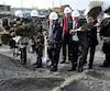 La première pelletée de terre officielle de la phase 1 du nouveau complexe hospitalier du CHU de Québec a été réalisée jeudi sur les terrains de l'hôpital l'Enfant-Jésus.