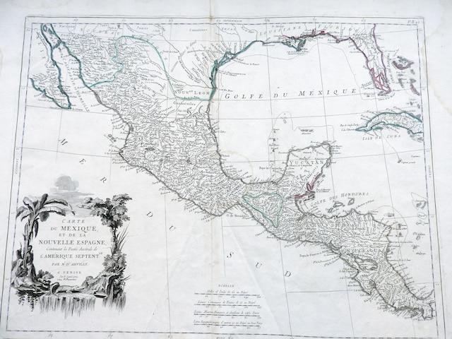 Carte du Mexique et de la Nouvelle- Espagne, datée de 1779.