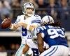 Tony Romo a brillé pour les Cowboys avec quatre passes de touché et 90% de passes complétées.