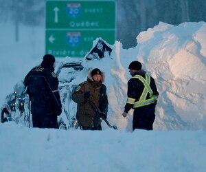 Pierre Thibault et Michael Fiset sont décédés dans leur véhicule à Saint-Pierre-de-la-Rivière-du-Sud lors de la tempête du 15 mars dernier.