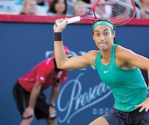 La puissance de Caroline Garcia n'a pas été suffisante contre Simona Halep, vendredi.